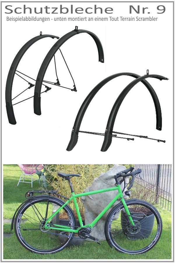 Crossrad mit schutzblech