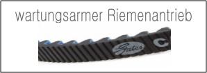 Kette oder Riemenantrieb: wartungsarmer Riemenantrieb Gates CDX Centertrack