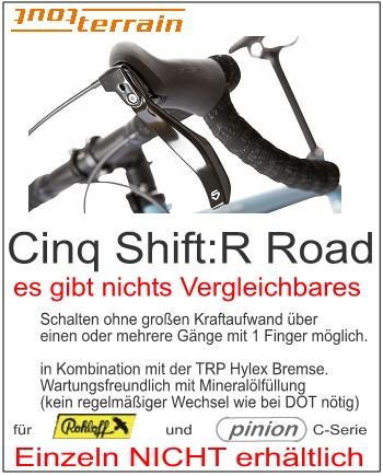 Schalthebel : Shift:R Road, Schalthebel-/Bremskombi für Rennlenker
