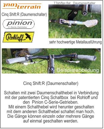 Schalthebel : Shift:R Daumenschalthebel für Rohloff