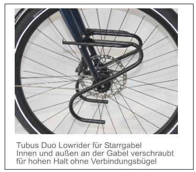 TT Lowrider - Frontgepäckträger): Tubus Duo 79,- Euro