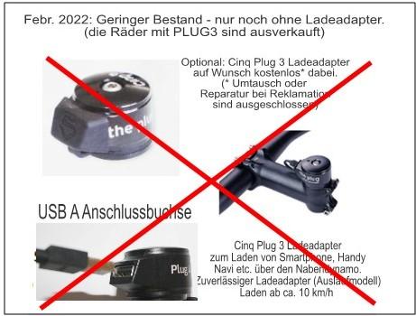 separater Ladeanschluss: Plug 3 Ladeadapter